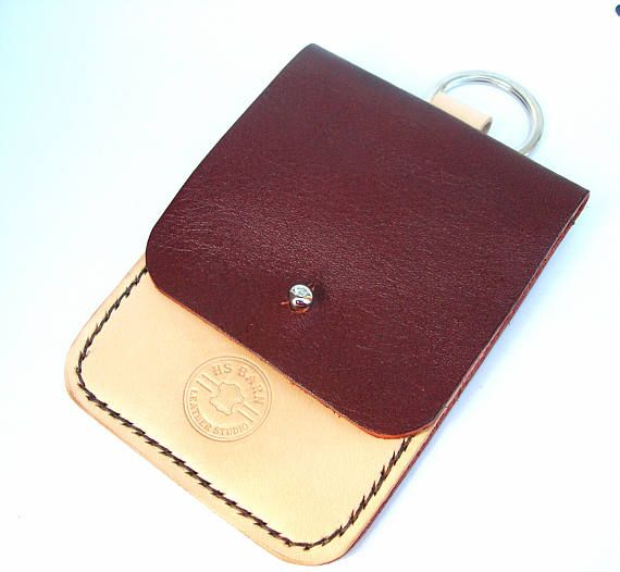 leather card holder and keyring card case with keyring - Card Holder With Keyring