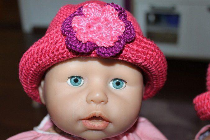 Häkelanleitung Puppenhut Süßes Hütchen für Puppen. Gehäkelt aus 100 ...