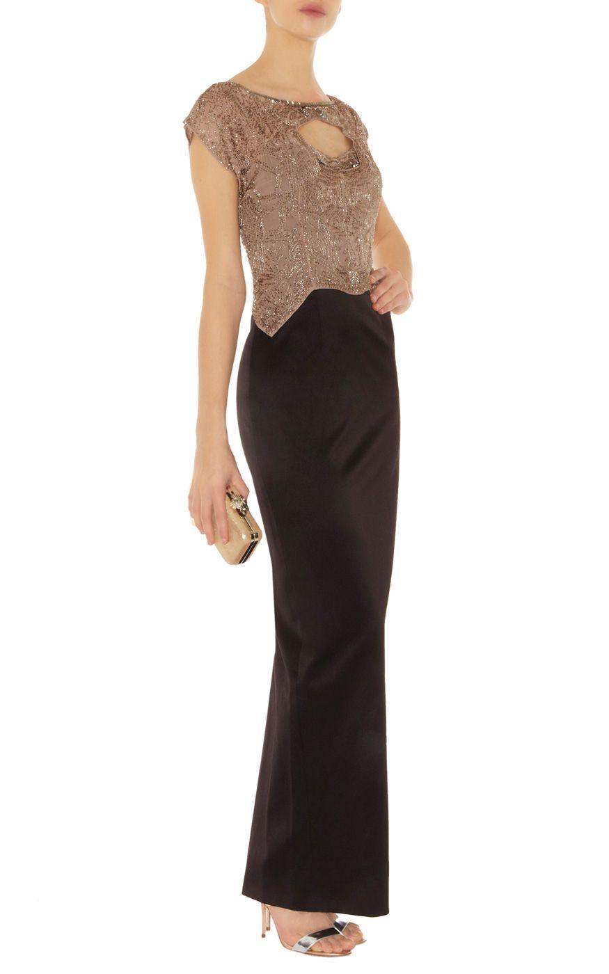 Statement beaded long dress Karen Millen   evening gowns   Pinterest ...