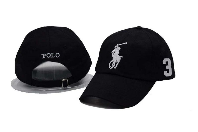 53732b05d52 Men s   Women s Polo Ralph Lauren Big Pony Number 3 Strapback Adjustable  Golf Hat - Black