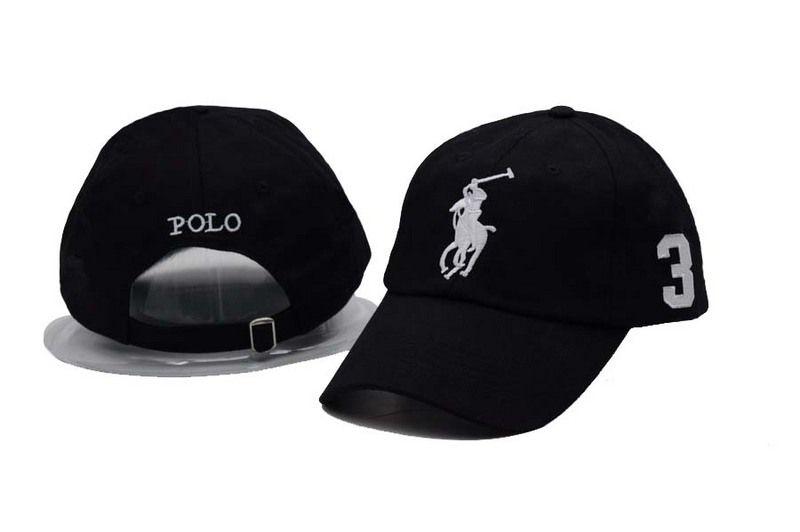 7500c23edd3 Men s   Women s Polo Ralph Lauren Big Pony Number 3 Strapback Adjustable  Golf Hat - Black