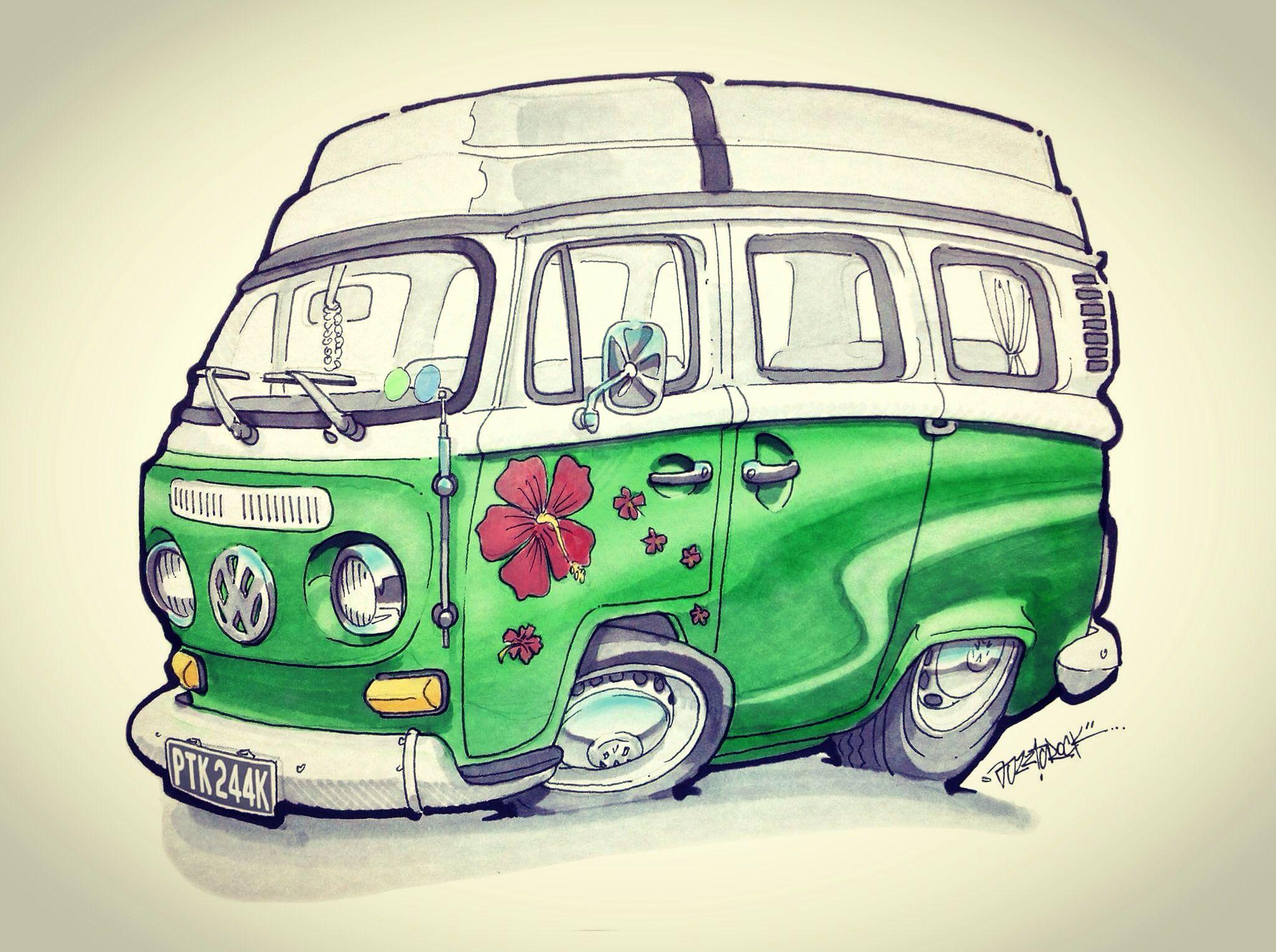простой рисунок на микроавтобуса фото