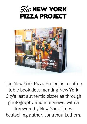 Coffee table book about Pizza places in ny!