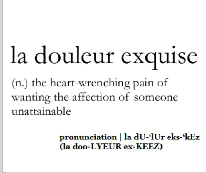 La douleur exquise meaning