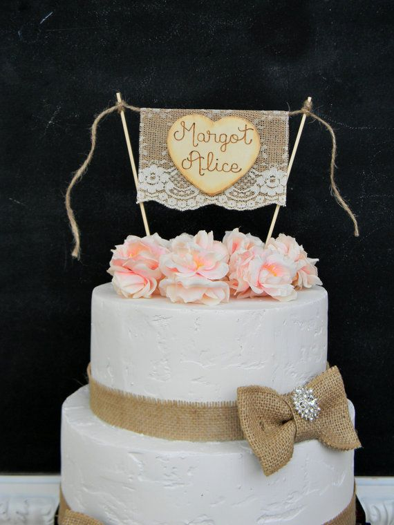 Shabby Chic Burlap Wedding Cakes