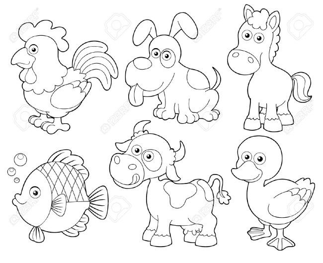 Resultado de imagen para animales terrestres para colorear ...