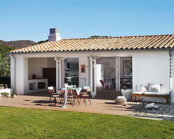 Peque a vivienda estilo tradicional exteriores r sticos e for Decoracion casas de campo pequenas