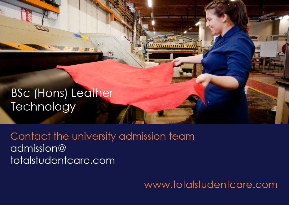 Bsc hons leather technology study in the uk