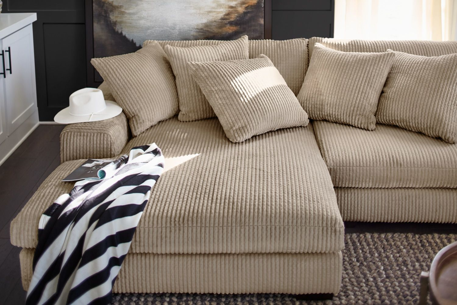 Best Lounge 2 Piece Sectional With Left Facing Chaise Beige 400 x 300