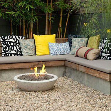 8 bancs de jardin pour profiter de son extérieur | Jardin en béton ...