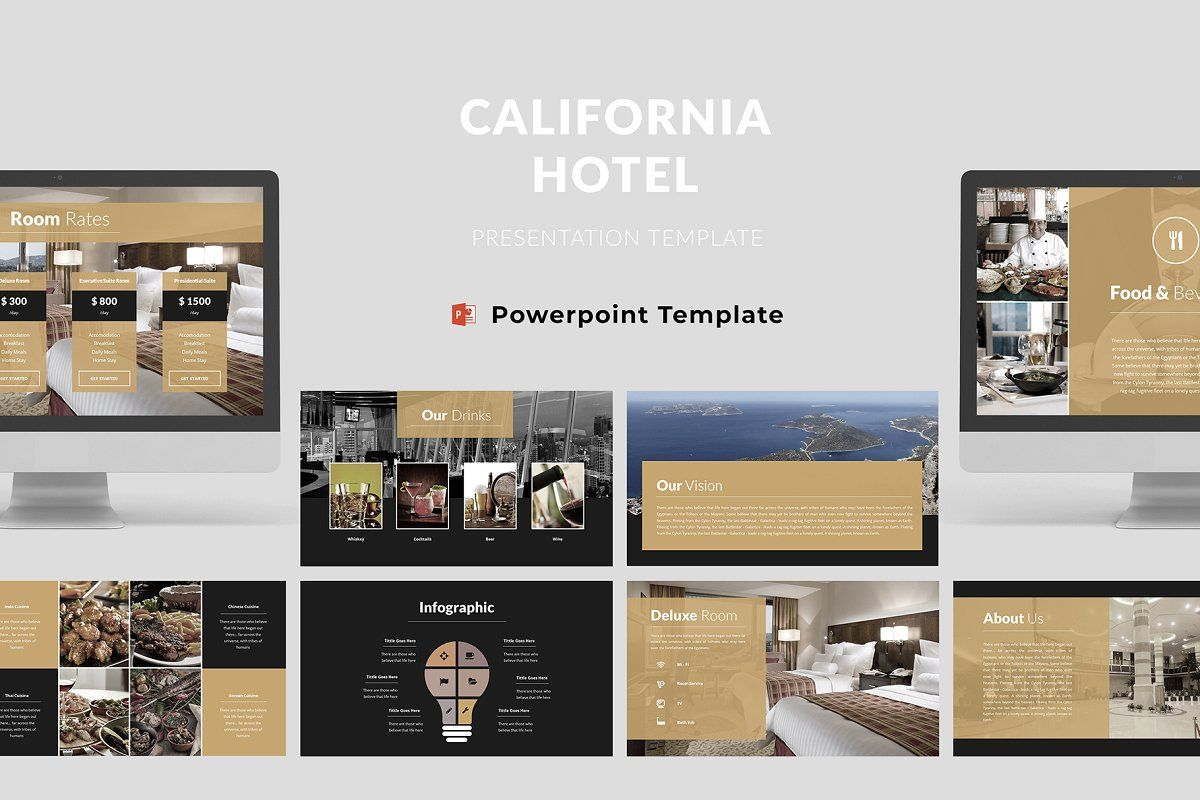 Hotel Powerpoint Template Powerpoint Templates Powerpoint Keynote Template