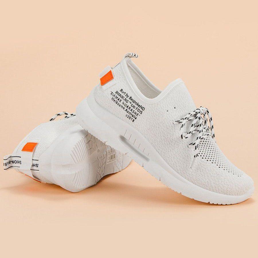 Mckeylor Wsuwane Obuwie Sportowe Biale Sports Shoes Plastic Heels Shoes