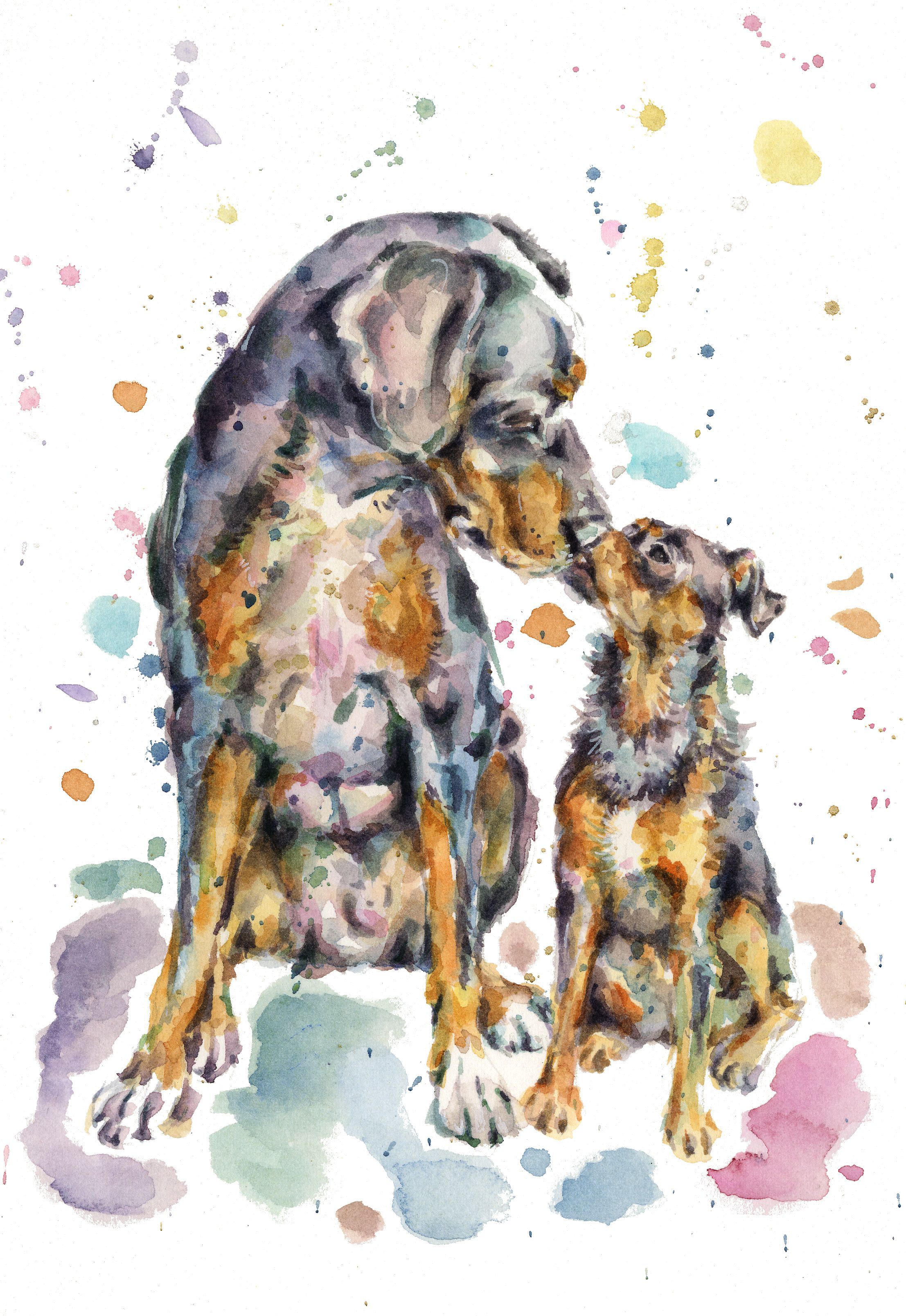 Watercolour Pet Portrait Paint My Pet Custom Pet Portrait