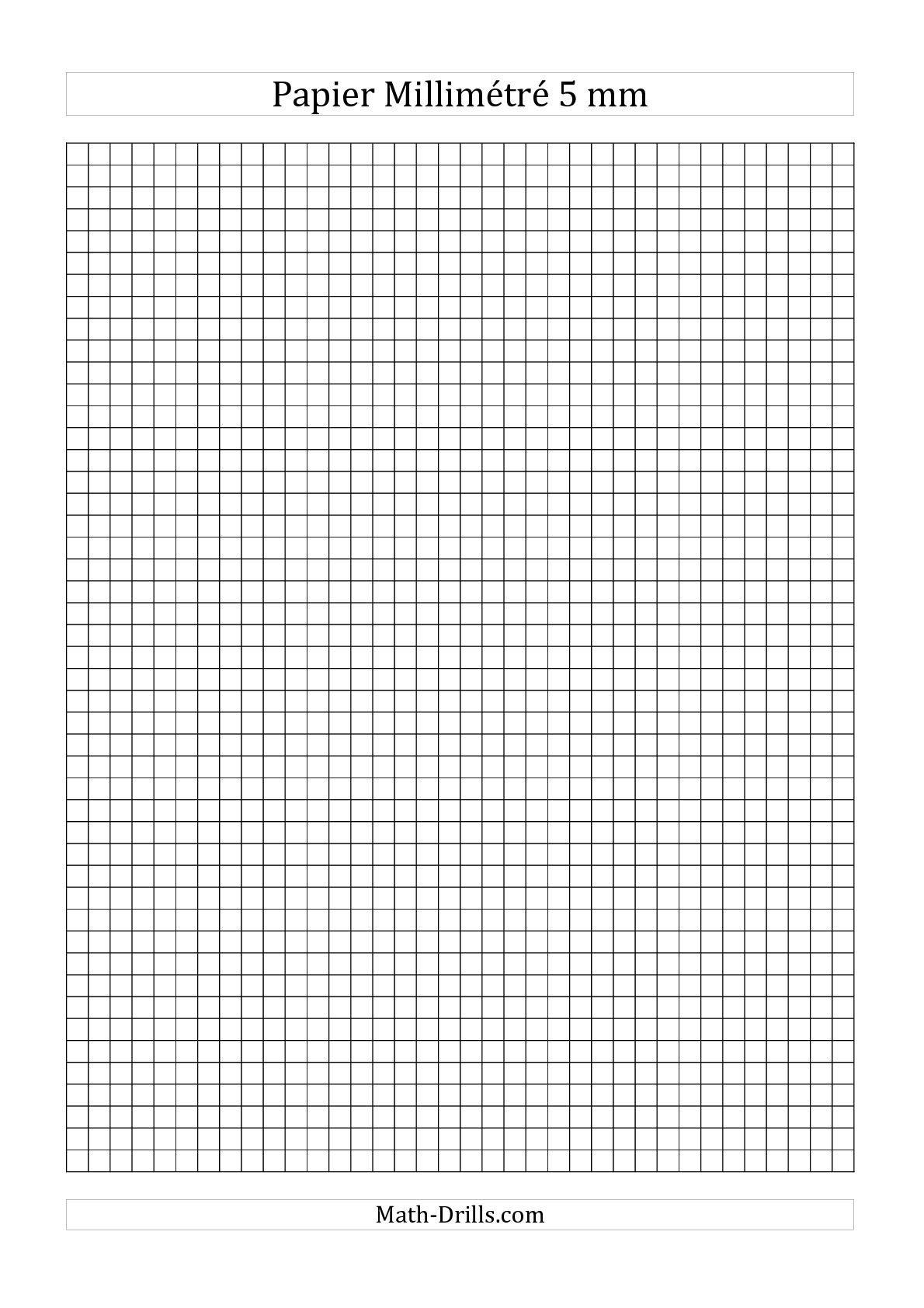 Papier Millimétré 5mm Noir Mathslibres Papier