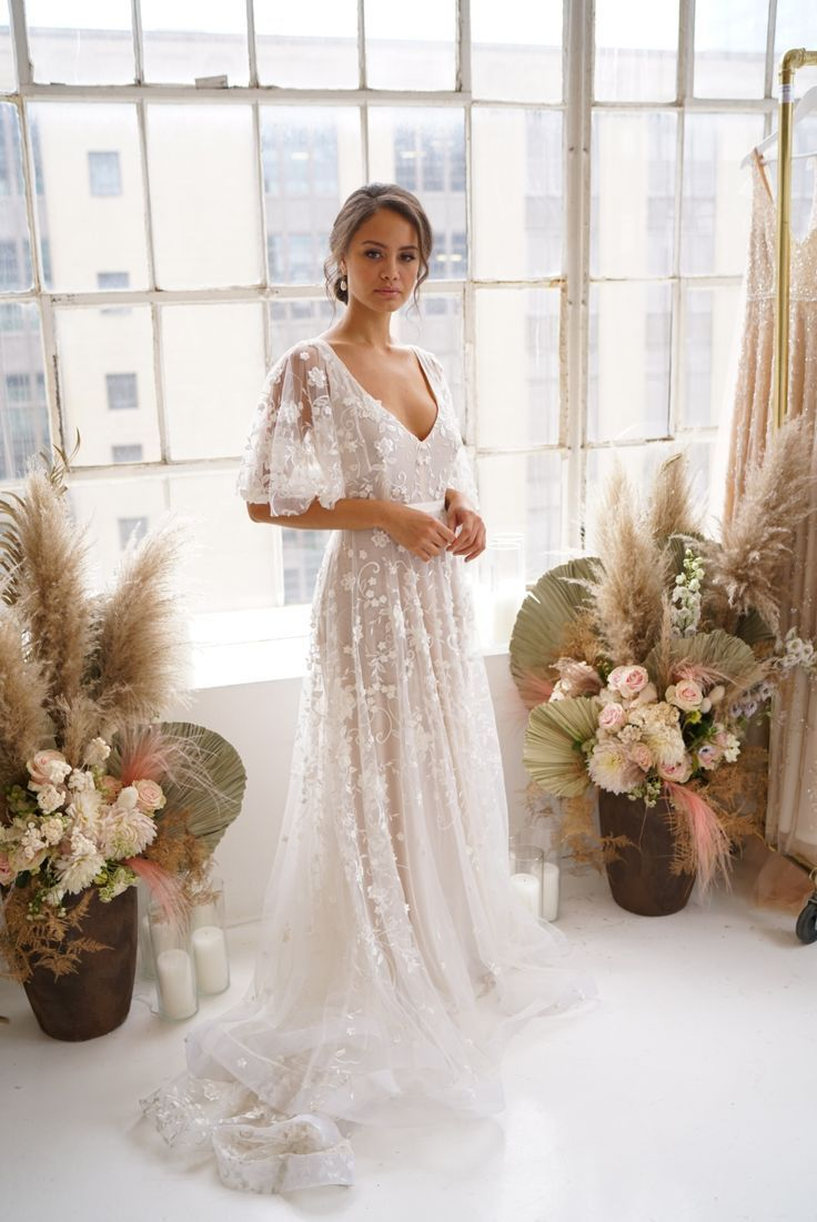 Amelie Draped Sleeves in 2020 | Making a wedding dress, Wedding dress sleeves, Wedding dresses