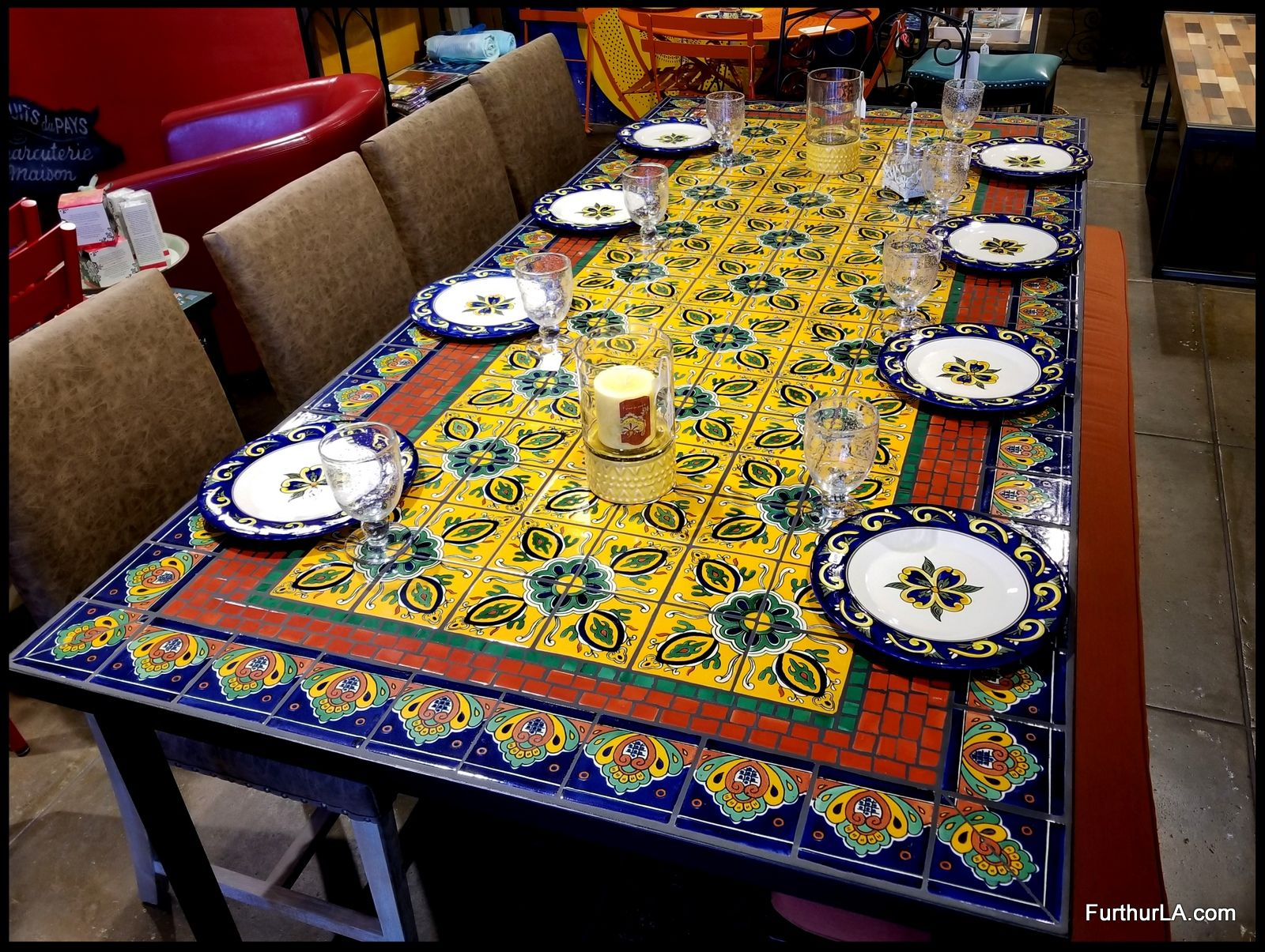 Furthur Wholesale Mosaic Dining Tables Mosaic Tile Table Dining