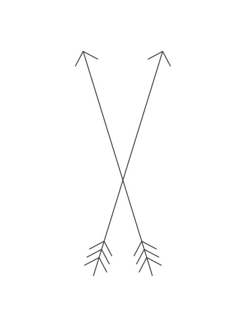 Direction Crossed Arrow Tattoos Arrow Tattoo Design Simple Arrow Tattoo
