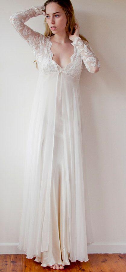 Long sleeve lace wedding dress ETSY $1181 :: pride & prejudice ...
