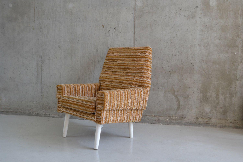 1970's mid century Danish striped woollen upholstered armchair by properstuff on Etsy https://www.etsy.com/uk/listing/455536484/1970s-mid-century-danish-striped-woollen