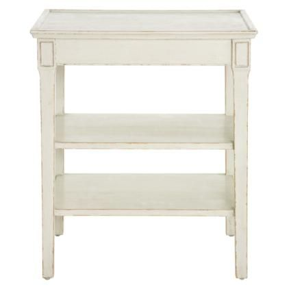 Gunnebo White Side Table 3 Shelves 40cm Wide 285