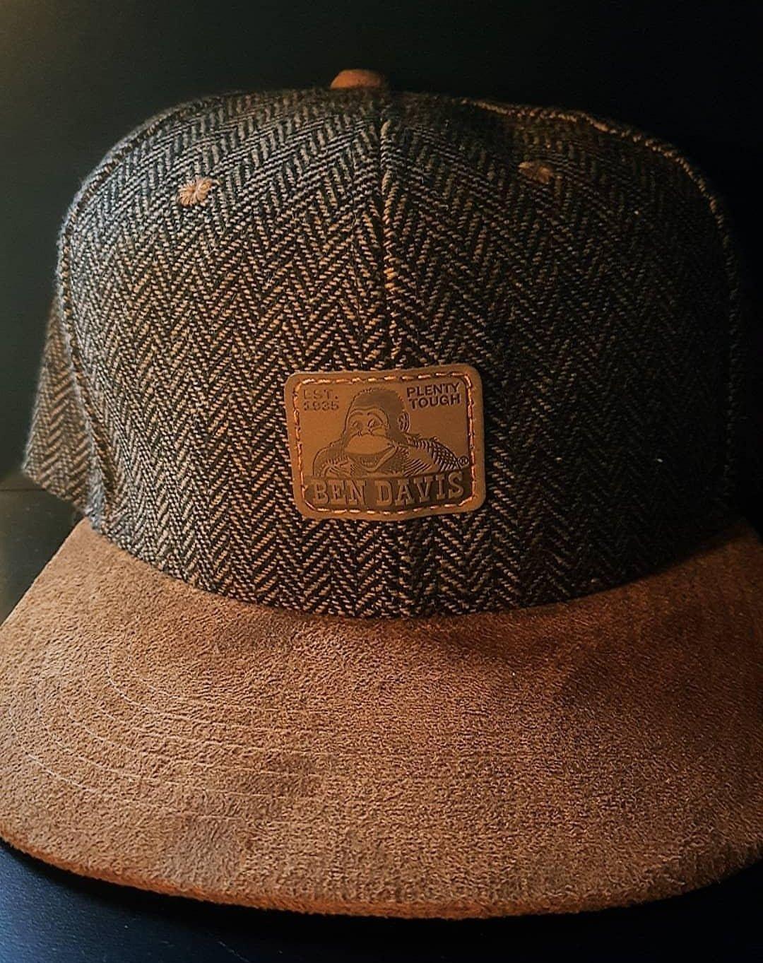 Custom Ben Davis Herringbone Tweed   Suede Snapback hat  d14aad5e00f