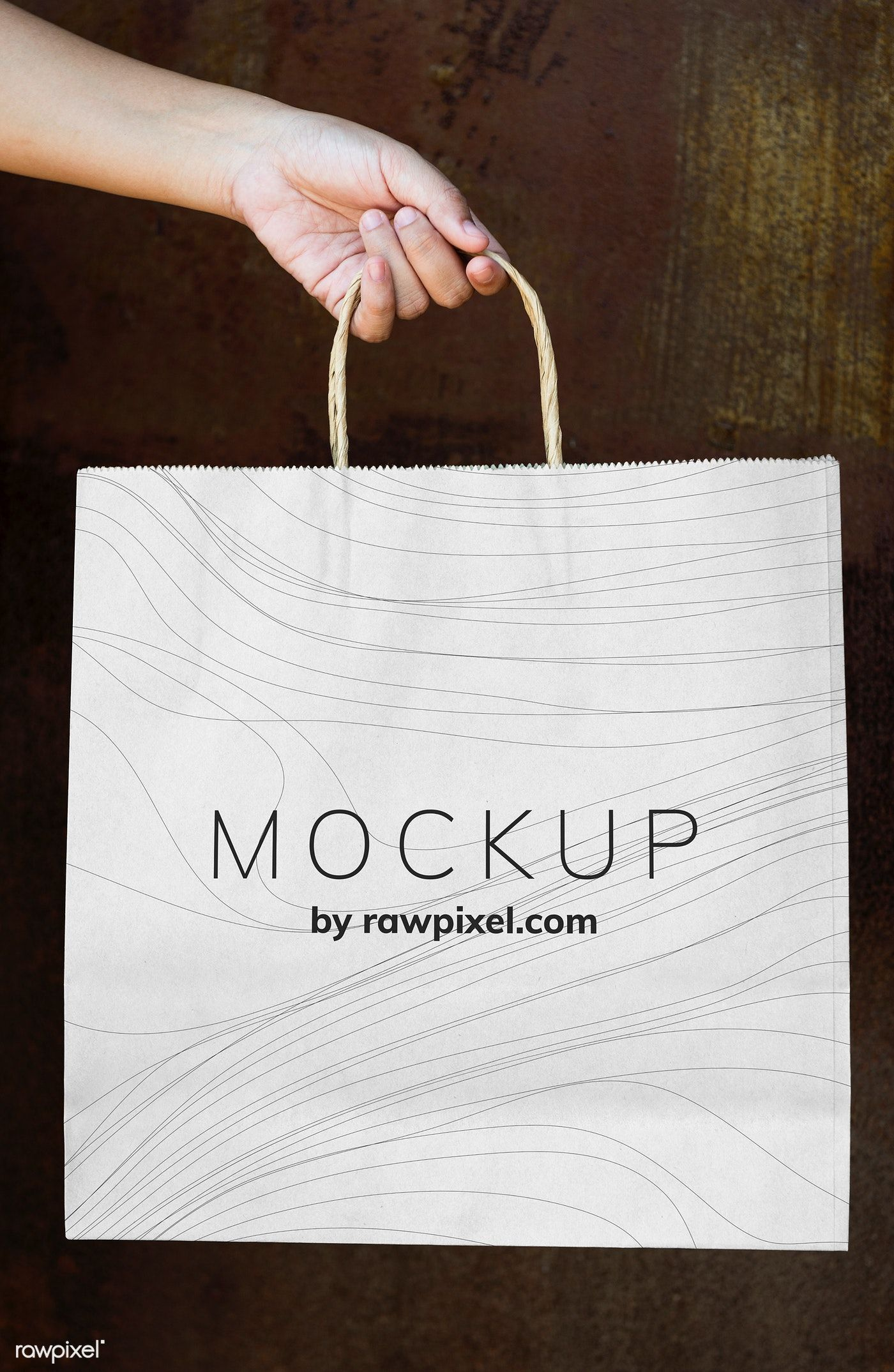 Download Download Premium Psd Of Female Hand Holding A Paper Bag Mockup 502834 Bag Mockup Paper Bag Bags
