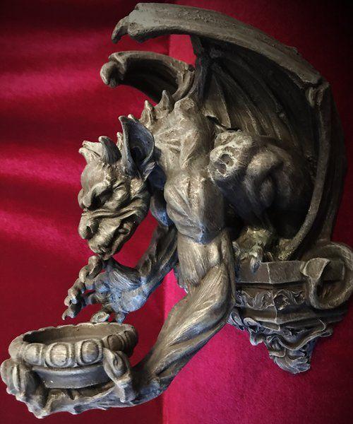 Gargoyle Wall Candle Holder