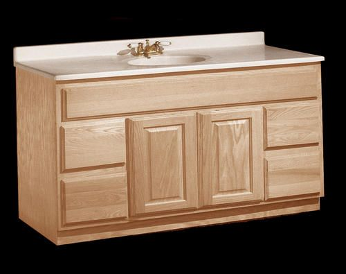 unfinished drawers and sink base vanity