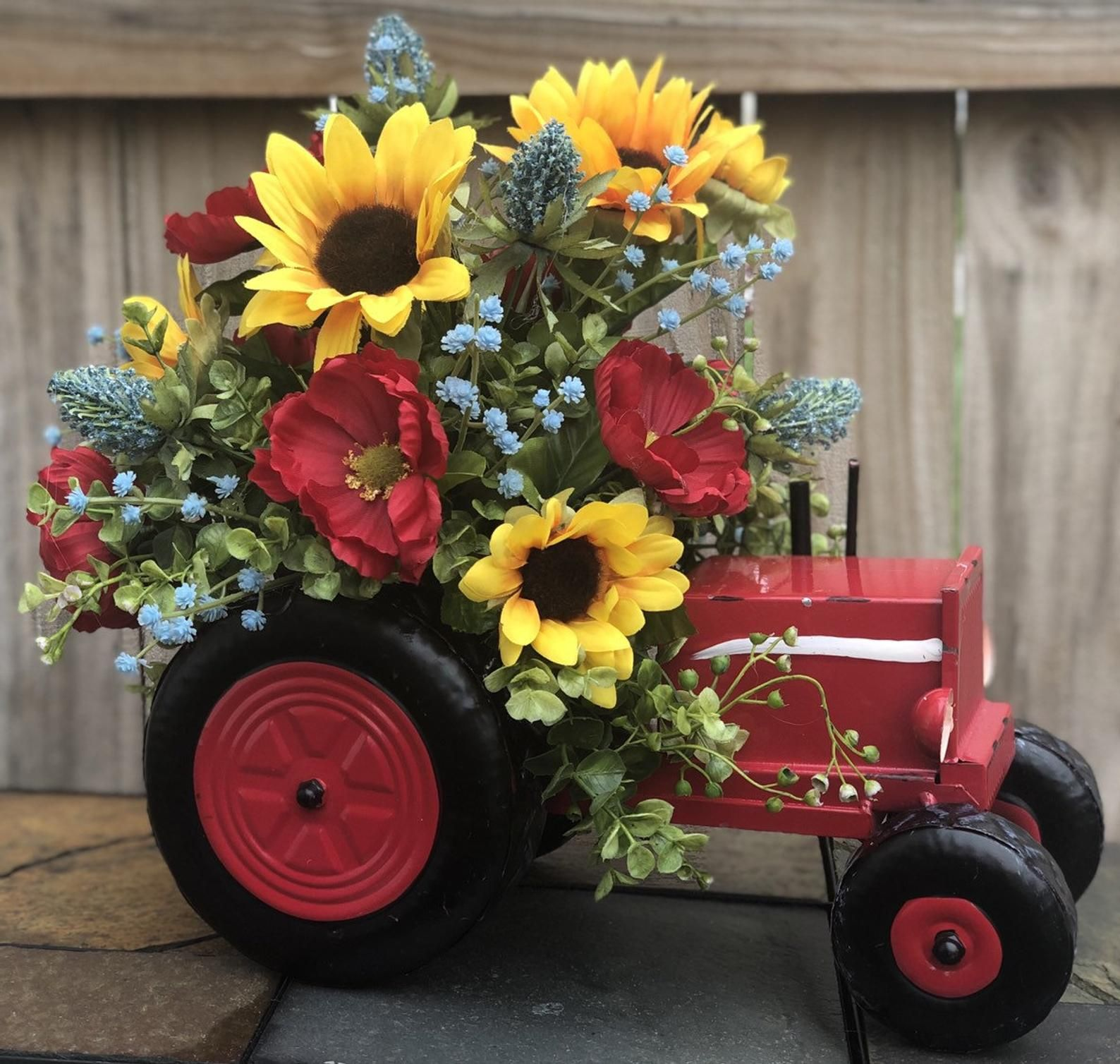 Farm Decor Farmhouse Decor Tractor Centerpiece Country
