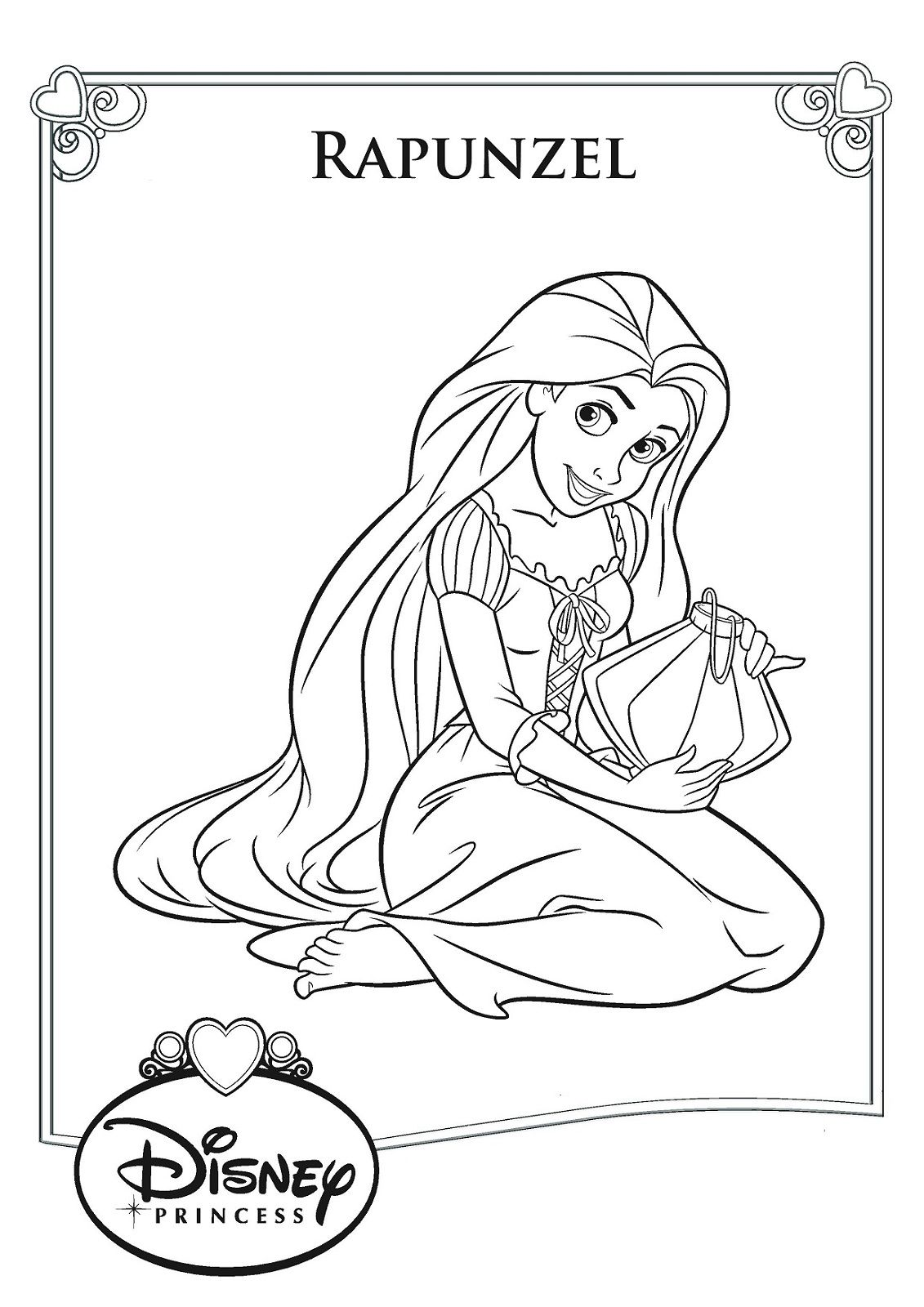 Rapunzel Color Pages to Print Coloring pages for girls