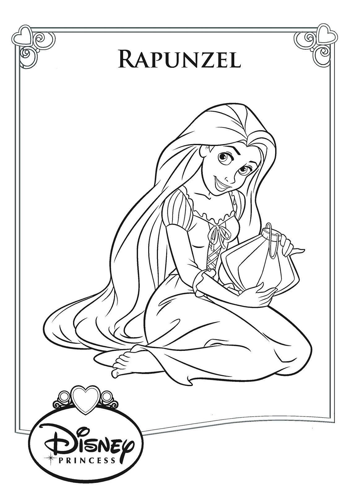 Rapunzel Color Pages To Print