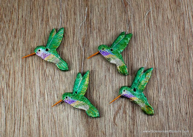 Make Pretty Hummingbird Ornaments For Your Christmas Tree Using