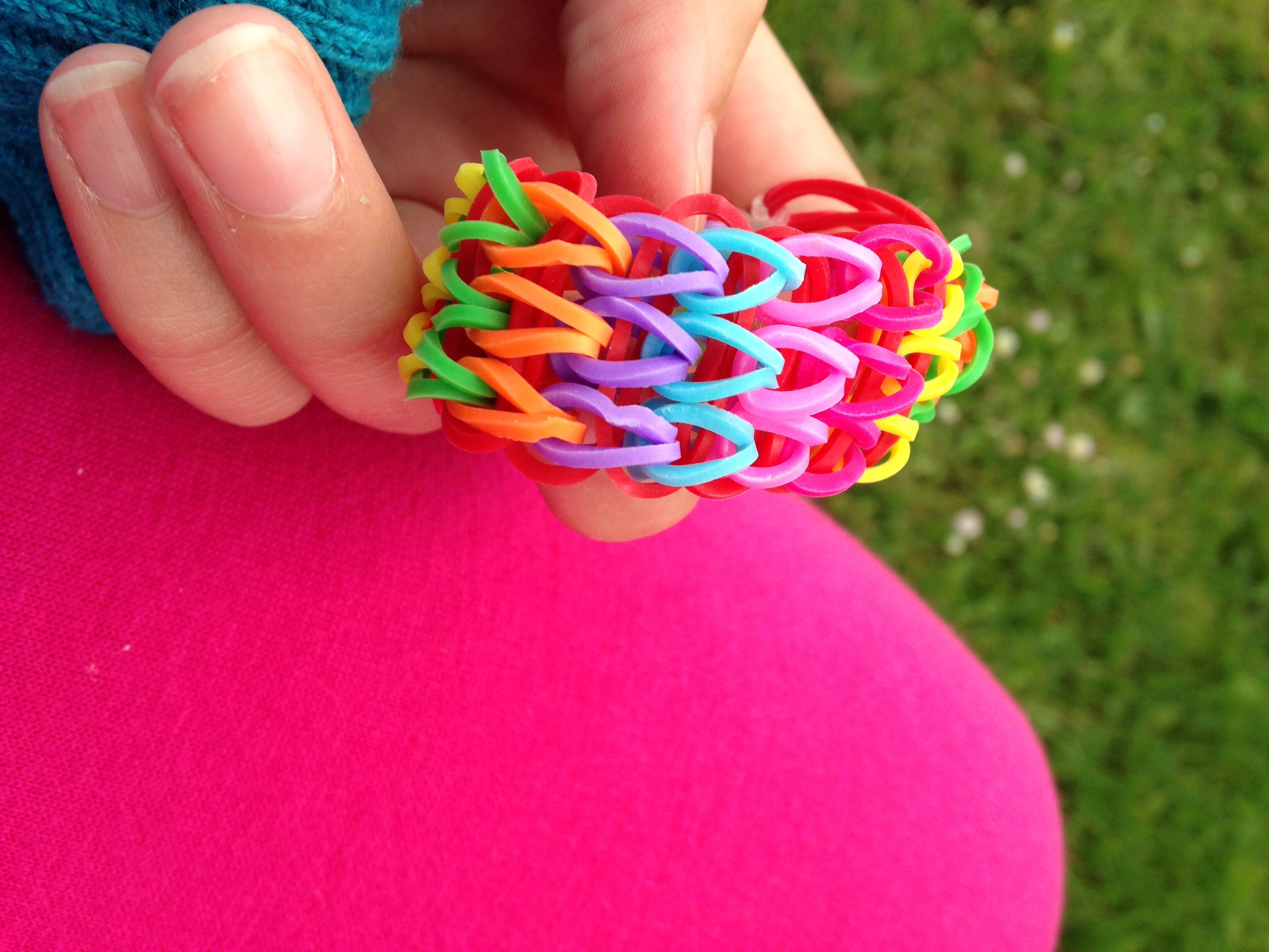 Picture Of How To Make A Waterfall Crazy Z Loom Bracelet