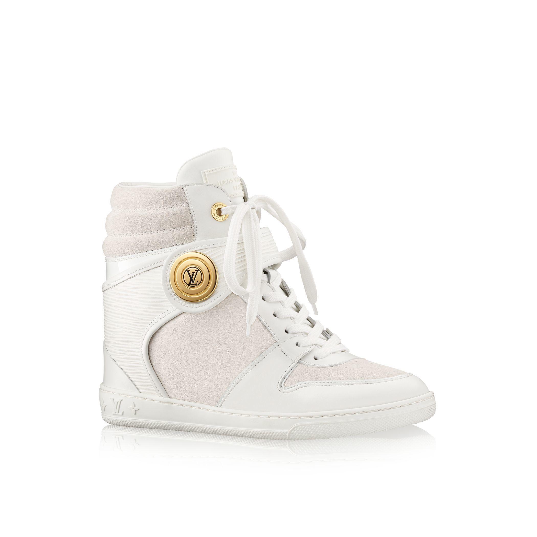 lv women white wedges Louis vuitton Postmark Sneaker