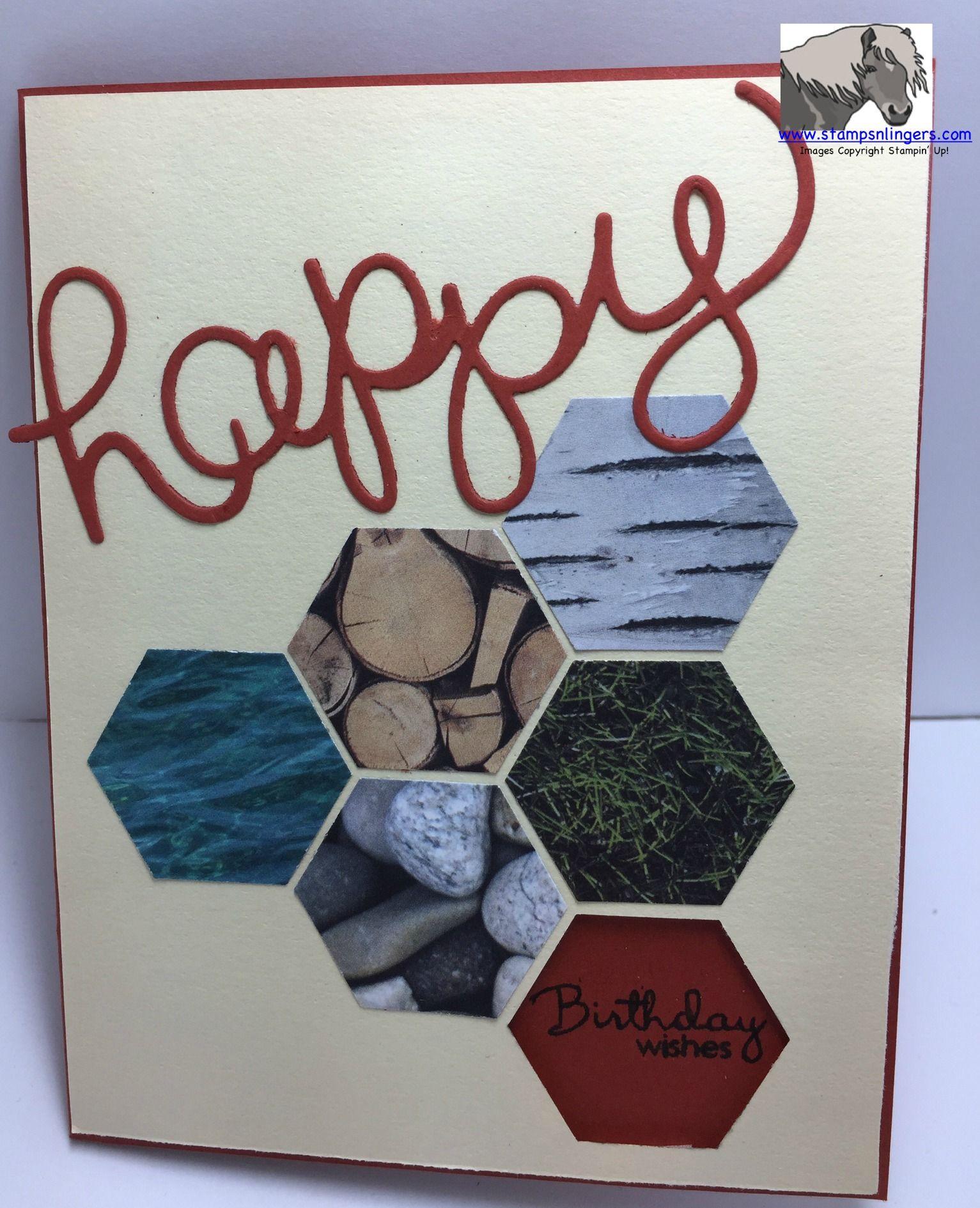 Stampin Up Adventure Bound Dsp Masculine Birthday Card Cards