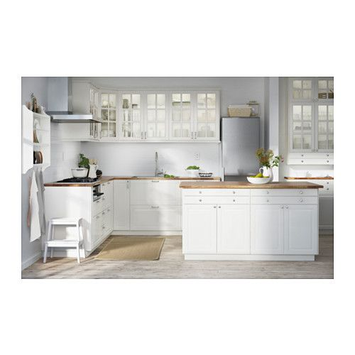 Bodbyn door off white doors wood tile floors and kitchens - Armoire de cuisine ikea ...