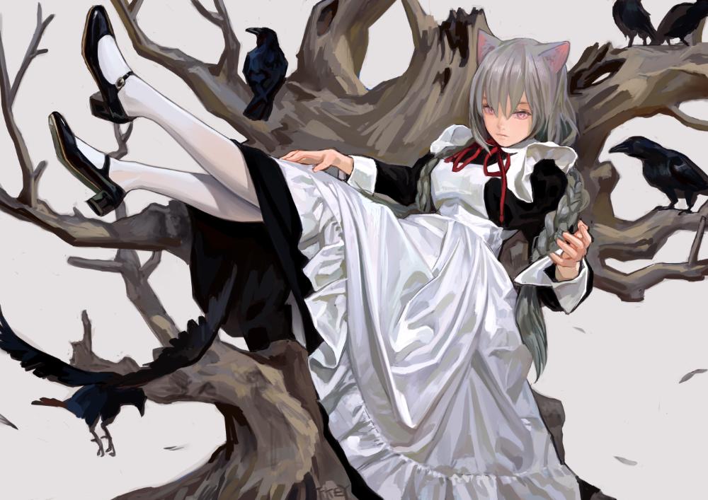 Fkey On Twitter Cat Girl Anime Maid Anime Art Girl