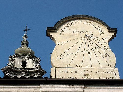 Sundial in Vigevano  #TuscanyAgriturismoGiratola