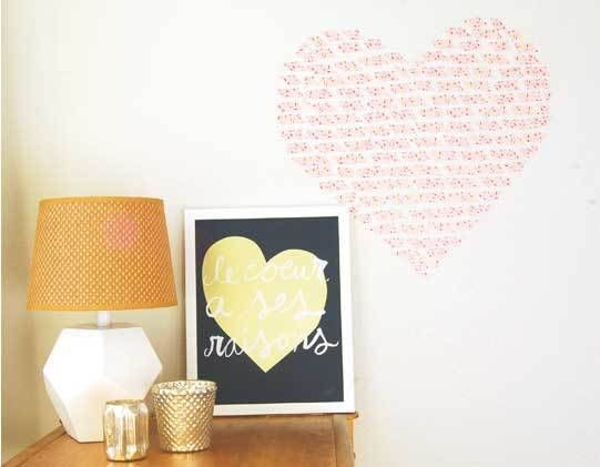 Washi Tape Heart Wall Installation - DIY Craft Kits, Monthly Craft Projects, Craft Supplies, Subscription Box | Whimseybox