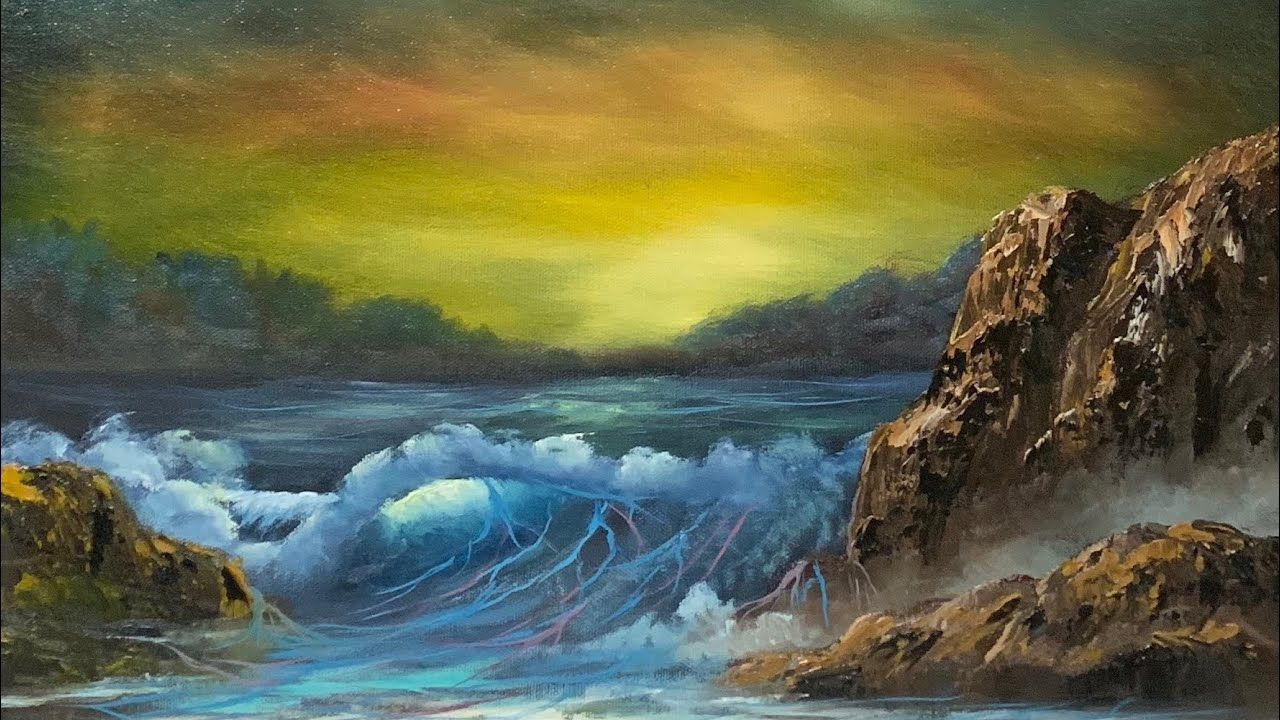 Seascape Sunrise Oil Painting Paintings By Justin