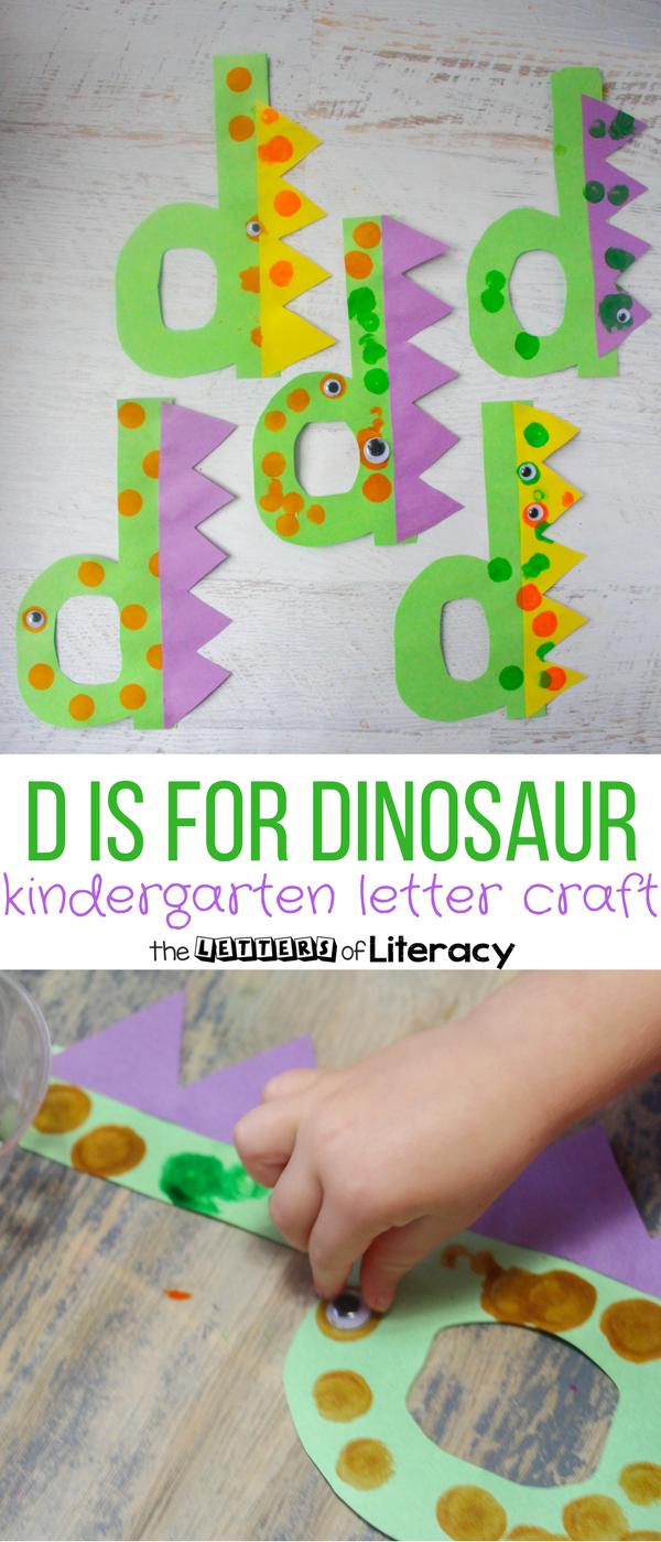 Letter d craft d is for dinosaur dinosaur projects for Dinosaur crafts for preschool