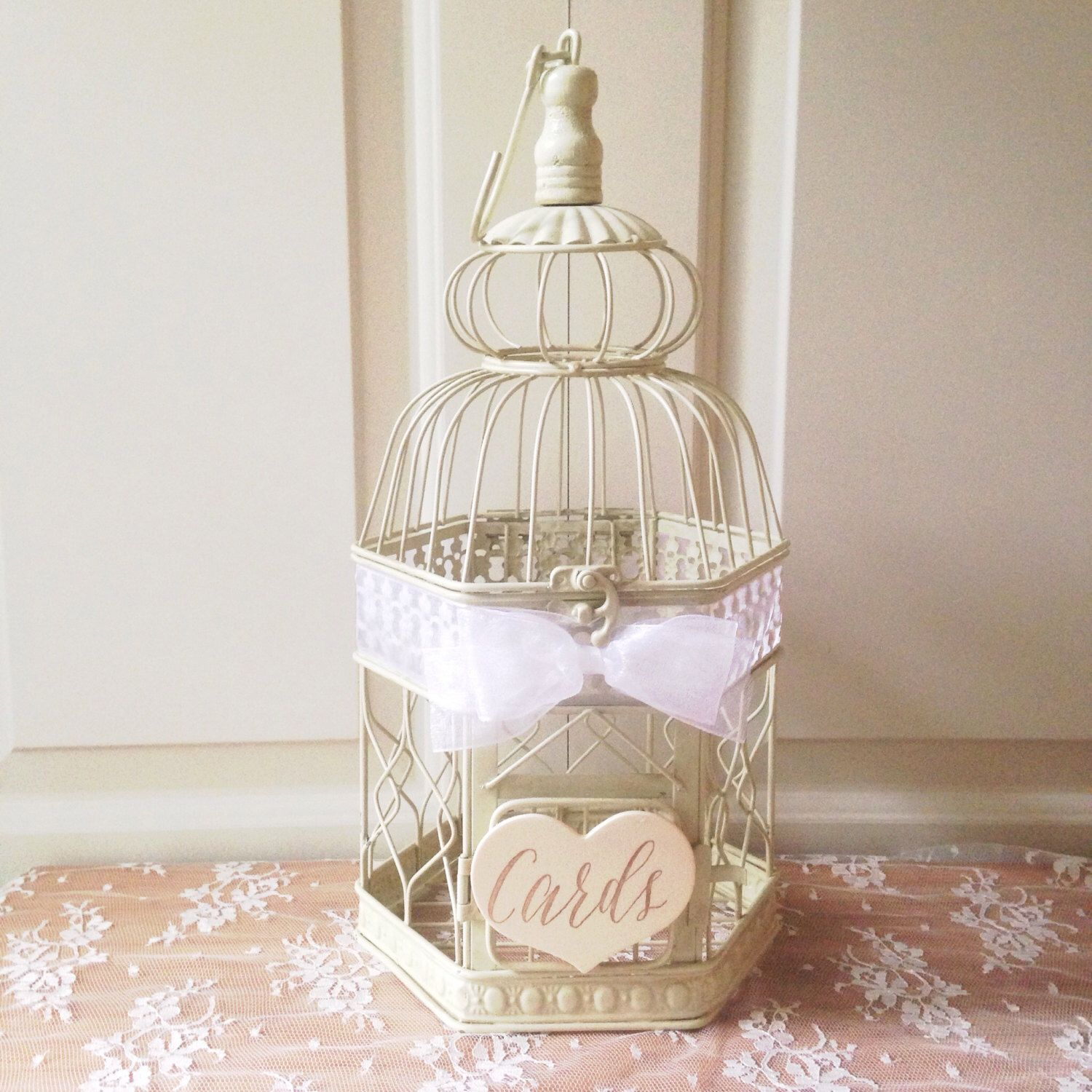 Custom Birdcage Card Holder, Small Wedding Bird Cage, Elegant Bird ...