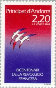 Peace Dove in the French national colors