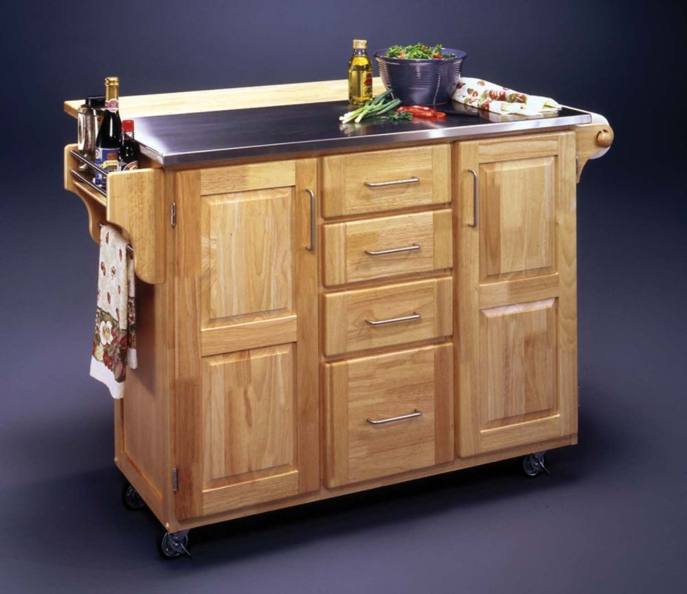 52 866 kmart 4u dmi furniture inc stainless steel top kitchen cart ...