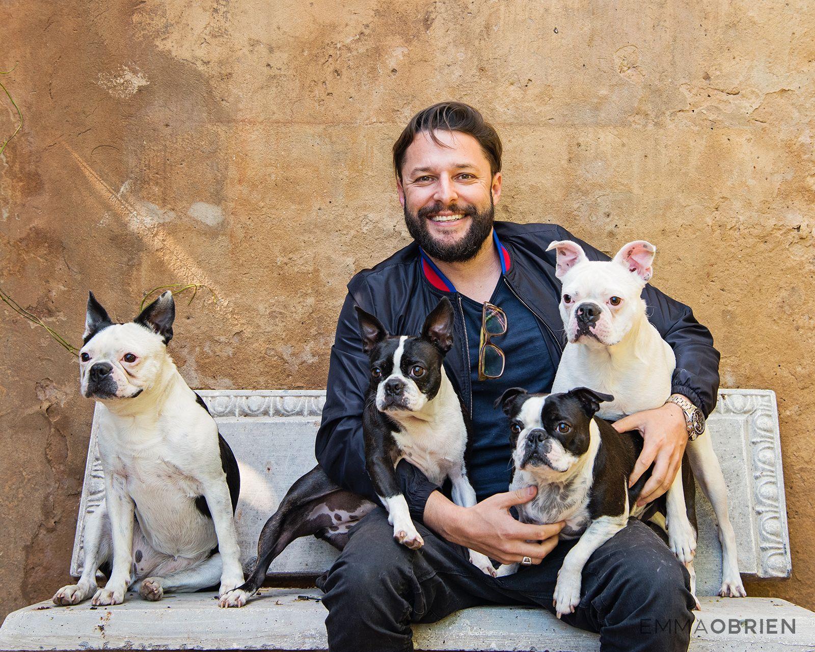 Roger Goode Photographed For Pet Prints Magazine Bostonterrier