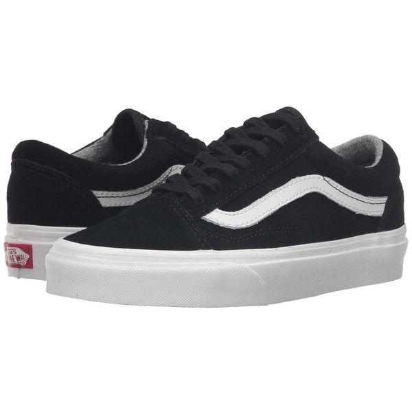 Vans Old Skool Varsity Suede Black Blanc De Blanc Skate Shoes 65 Liked On Polyvore Featuring Shoes Laced Shoes Blac Vans Suede Vans Black Lace Shoes