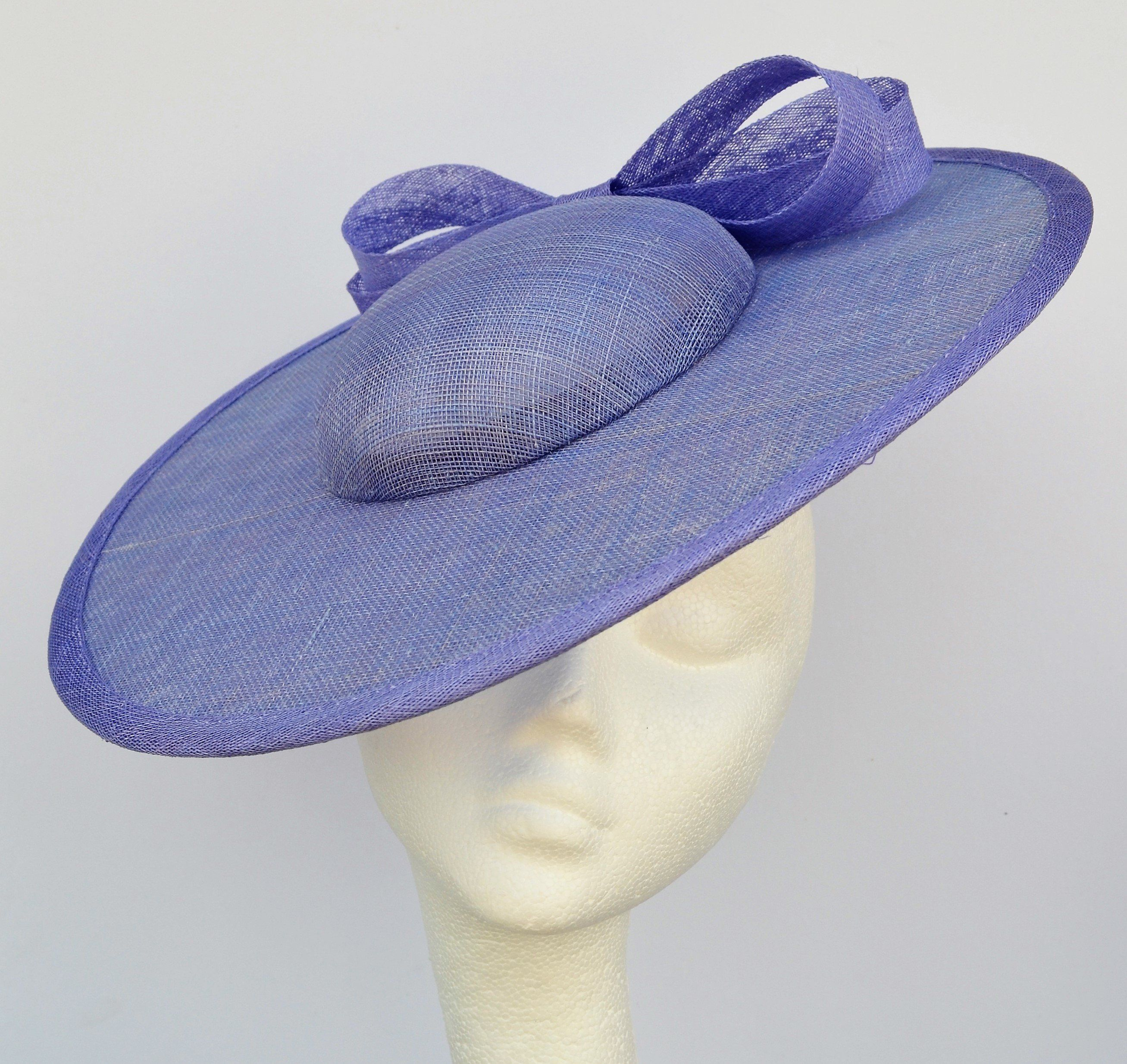 b00eeb577df1f Periwinkle blue wedding hat. Blue saucer hat. Blue disc hat. Blue ...