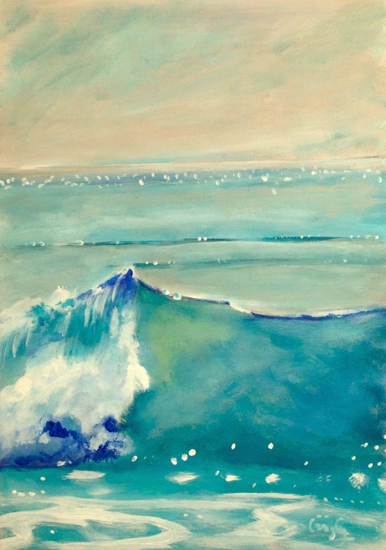 """The Wave 16x11"""" acrylic box canvas"""