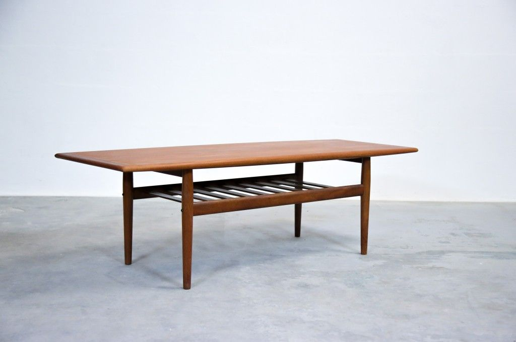 Table basse danoise grete jalk glostrup-danois-teck-scandinave table ...