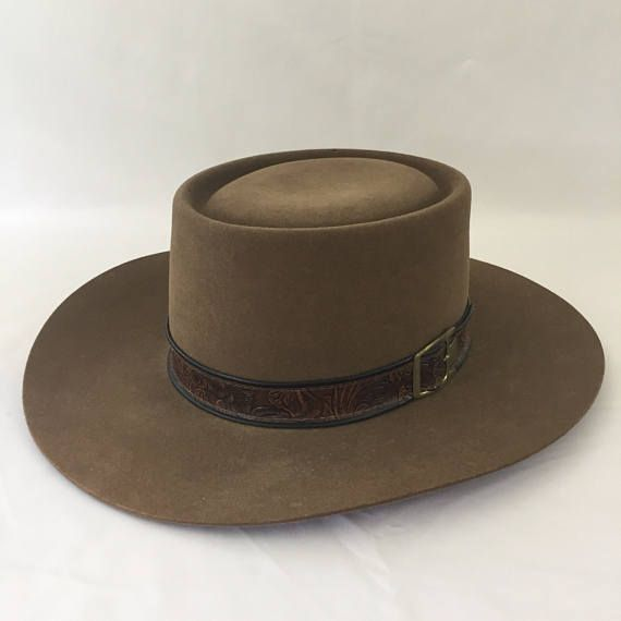 88e467bff0c0a Stetson Cowboy Hat Revenger Acorn 314 Brim 4X Beaver Felt